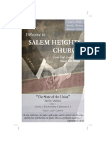 Salem Heights Church Bulletin - July 5, 2015