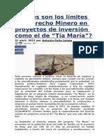 Cuáles son los límites del Derecho Minero en proyectos de inversión como el de Tia María.doc