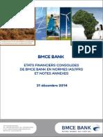 Etats Financiers Consolidés Et Notes Annexes Au 31 Décembre 2014