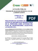 Invitacion Publica Proceso Conmcs No. 034
