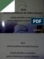 MANEA - Ghid Profesori Franceza NOU