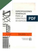 R-009 Especificaciones Generales