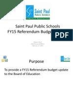 ppt fy15 referendum budget update 2 17 15