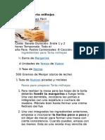 Receta de Torta Milhojas