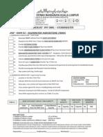 Dbkl Checklist