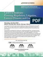 31st Land Use Institute (Chicago, July 30, 2015)