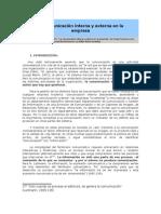La Comunicación Interna y Externa en La Empresa
