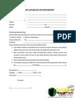 Form Aplikasi Sponsorship