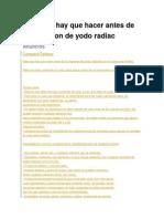 Dieta Que Hay Que Hacer Antes de La Inyeccion de Yodo Radiac