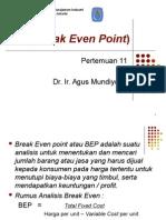 Break Even Point (BEP)