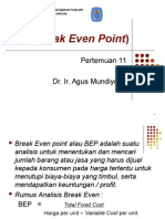 Break Even Point (BEP)