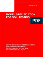 Model Specification for Soil Testing. Geospec 3 Hongkong