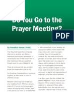 Do You Go to the Prayer Meetings