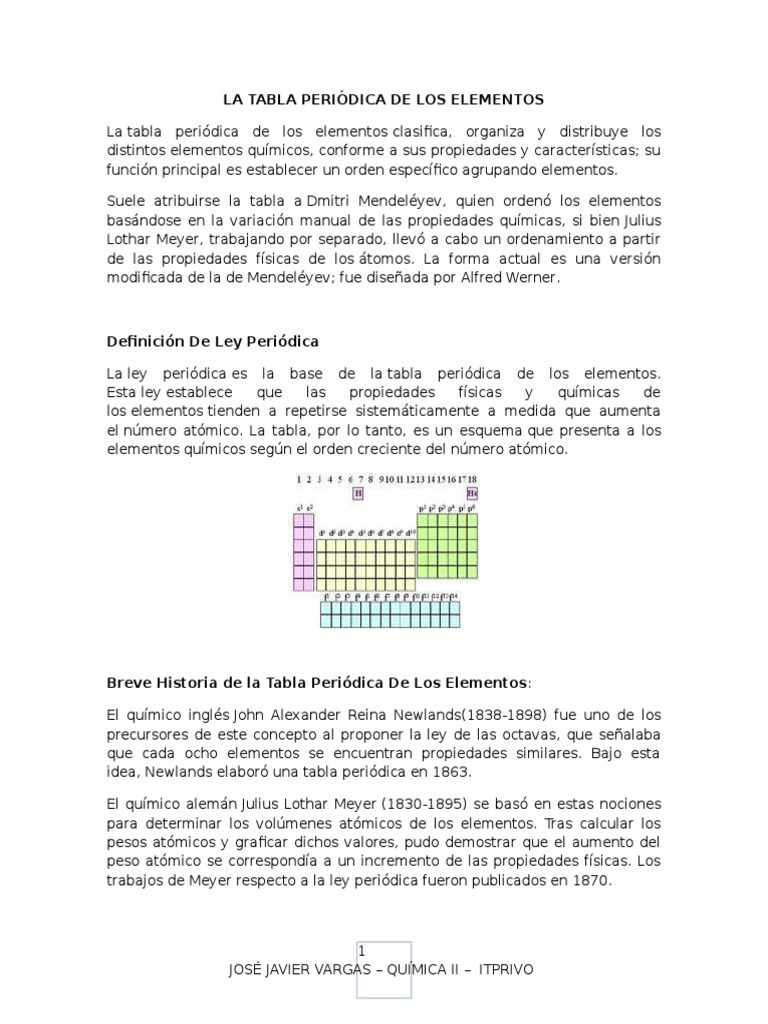 Tabla periodica modificada urtaz Choice Image