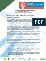 Edital Prc3aamio Reciclando Saberes 20152