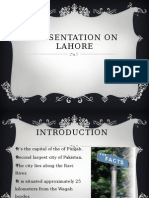Presentation on Lahore