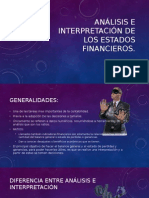 Analisis e Interpretacion de Los Estados Financieros.