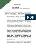Modelo Carta Notarial de desistimiento de calumnia