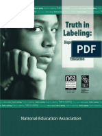 Disporportionality Truth in Labeling