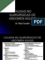 Abdomen Agudo, Causas No Quirurgicas