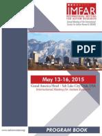 IMFAR 2015 Program Book