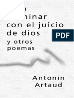 Artaud Antoine Para Terminar Con El Juicio de Dios