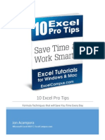 10 Excel Pro Tips eBook - Jon Acampora