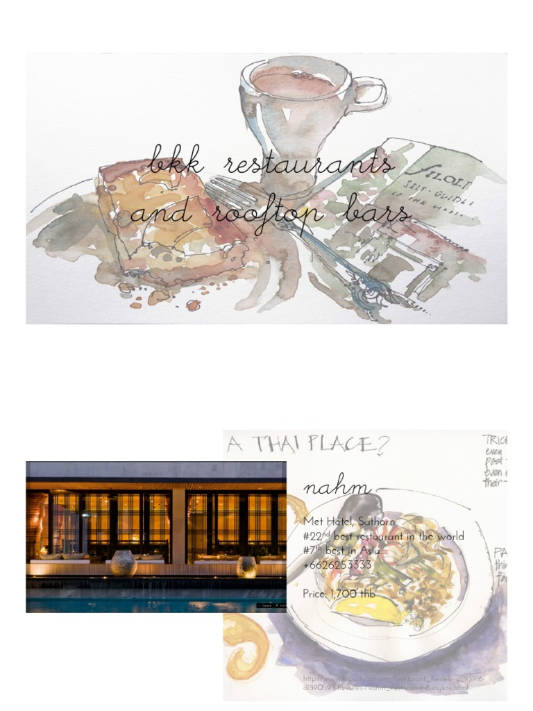 Bangkok 2015 | Restaurants | Restaurant And Catering