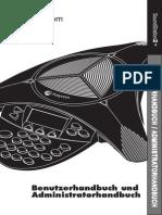Konferenzspinne SoundStation2 User Guide German