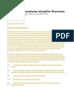 Analiza Situatiei Financiare 2