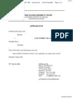 AUSTRALIAN GOLD, INC. v. HALL - Document No. 8