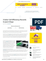 3 Solar Cell Efficiency Records in Just 4 Days