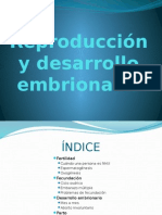 Reproducción y desarrollo embrionario humano