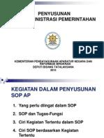 2. Penyusunan Sop AP Kemenpan&Rb 2013
