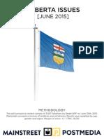 Mainstreet - Alberta Issues June