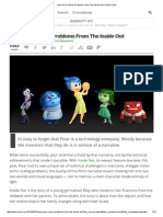 How Pixar Solves Problems From the Inside Out _ TechCrunch
