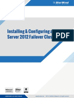 StarWind SQL Cluster installation and configuration document