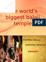 COMING SOON... THE WORLD'S BIGGEST BALAJI TEMPLE -- MUMBAI BALAJI SWARNA MANDIR (DAHANU)