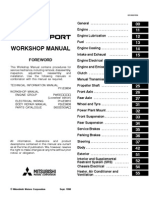 Mitsubishi Pajero Workshop Manual - Index