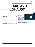 mitsubishi pajero workshop manual 15 - intake and exhaust