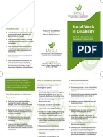 Role of Social Worker in Disability Services