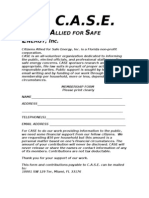 CASE Membership Application