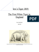 Pellew's Tiger 1809 - The First White Tiger in England