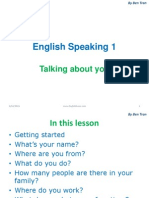 English Speaking Lesson 1 - Talking About You