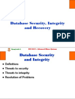 ICS 2415 ADBS Sess05 06 DBase Security Integrity and Recovery