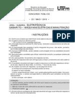 Concurso Publico Edital No 054 2010 Prova e Gabarito Eletrotecnica Maquinas Eletricas e Manutencao