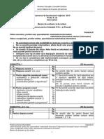 Barem de corectare Informatică Mate-Info Bac 2015