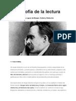 Una Filosofía de La Lectura (Reseña) - Sérgio Sánchez