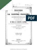 Discurso Sobre La Ilustre Fregona 1872