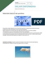 APUNTES AUXILIAR ENFERMERIA Materiales Básicos Del Quirófano